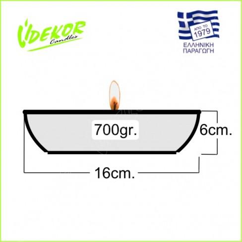 Citronella Κερί Κεραμικό ΚΗΠΟΥ Φ16cm. Κιβώτιο 6 τεμάχια (6Χ2,25€)+ΦΠΑ