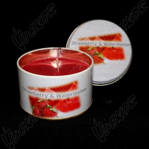 Αρωματικό Κερί Κονσέρβα Φράουλα Μικρή
