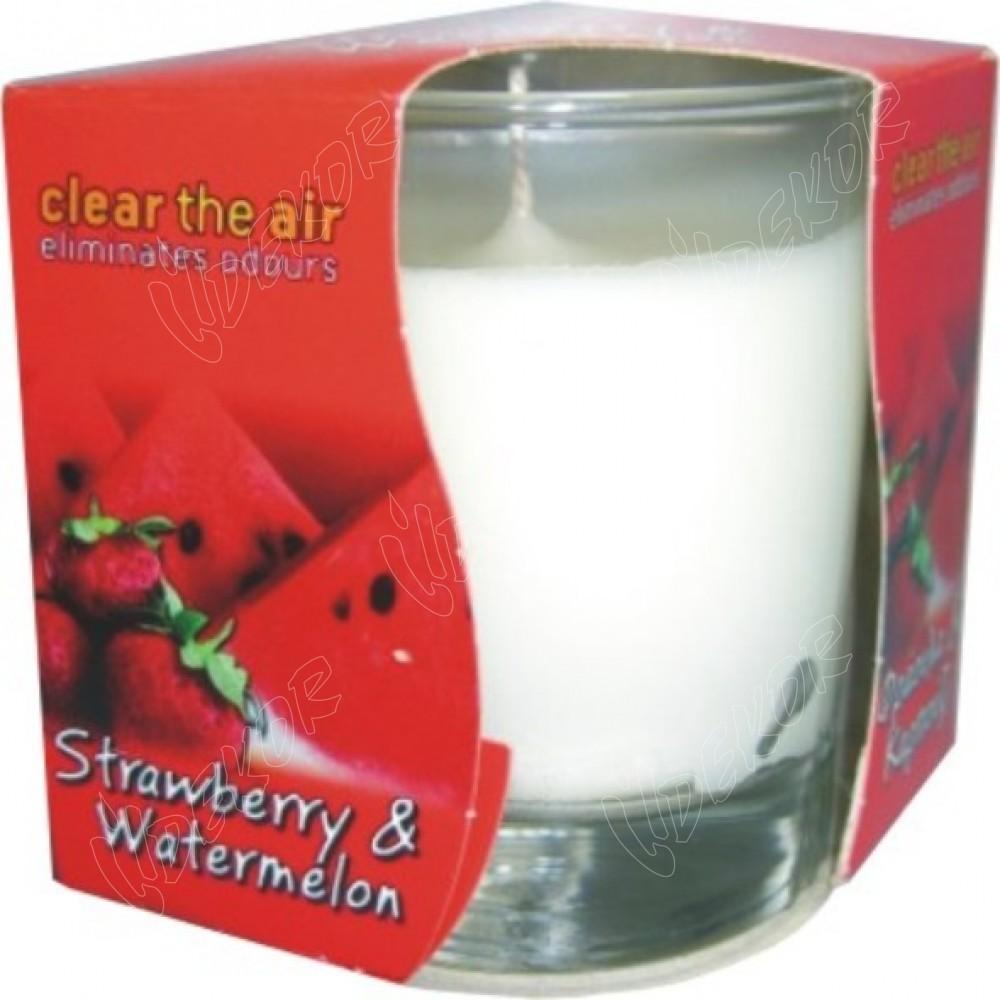 Αρωματικό Κερί Ποτήρι Strawberry