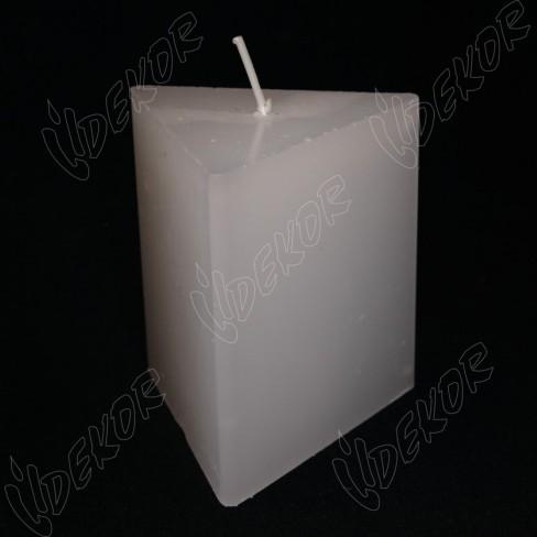 Κερί ΤΡΙΓΩΝΙΚΌ 8,5x8,5x8,5x10cm.