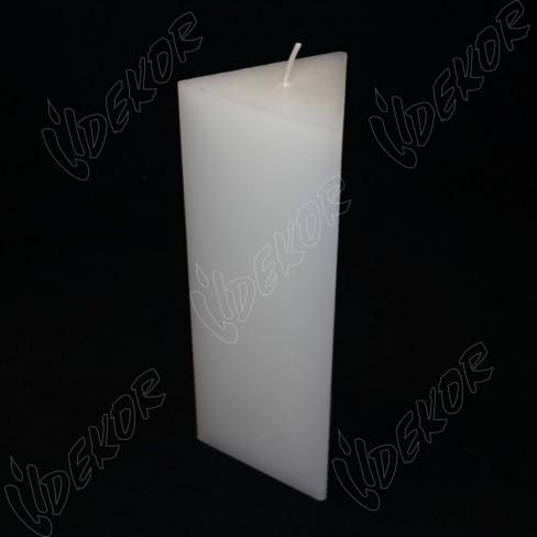 Κερί ΤΡΙΓΩΝΙΚΌ 8,5x8,5x8,5x22cm.
