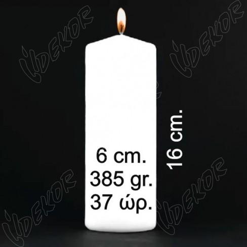 ΦΘΗΝΑ Κεριά Κυλινδρικά Μηχανής Αφινίριστα και Άβαφα Φ 6x16cm. Μόνο σε ΛΕΥΚΟ Συσκευασία  144 τεμ. x 1,49€+ΦΠΑ