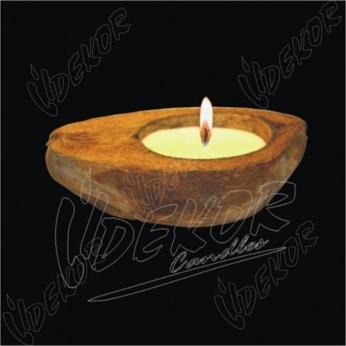 Φλοιός Καρύδας με Αρωματικό Κερί