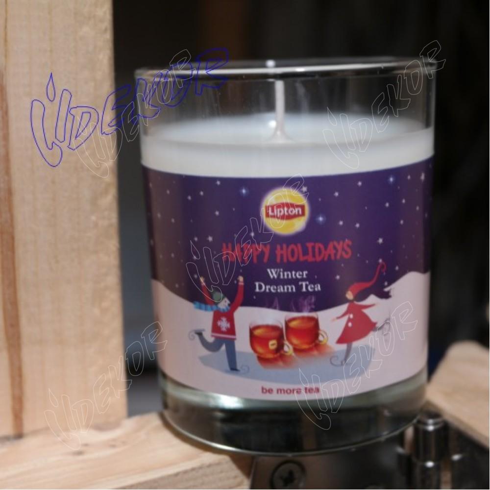 """Lipton"" Κερί Εκτύπωση Σε Ποτήρι Ουίσκι"