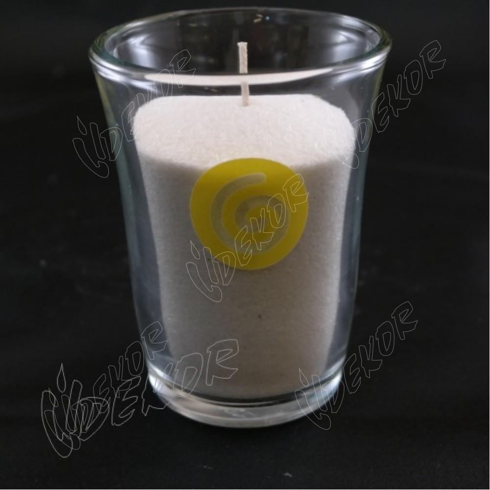 """""""Flocafe"""" Κερί Εκτύπωση Σε  Ποτήρι"""
