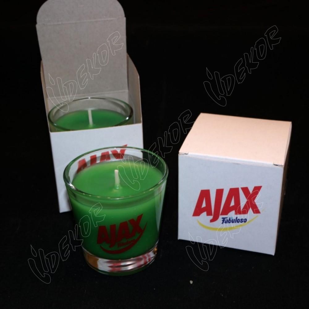 """AJAX"" Κερί Εκτύπωση Σε  Ποτήρι"