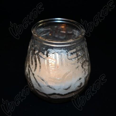 """Αντιανεμικό Ποτήρι Κερί """"Κουκουνάρα"""" 24 ώρες καύσης  24τεμ.- Χονδρική (24x1,85€+ΦΠΑ)"""