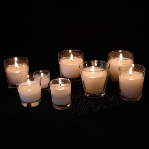 Κεριά Σε Ποτήρι Και Βαζάκι